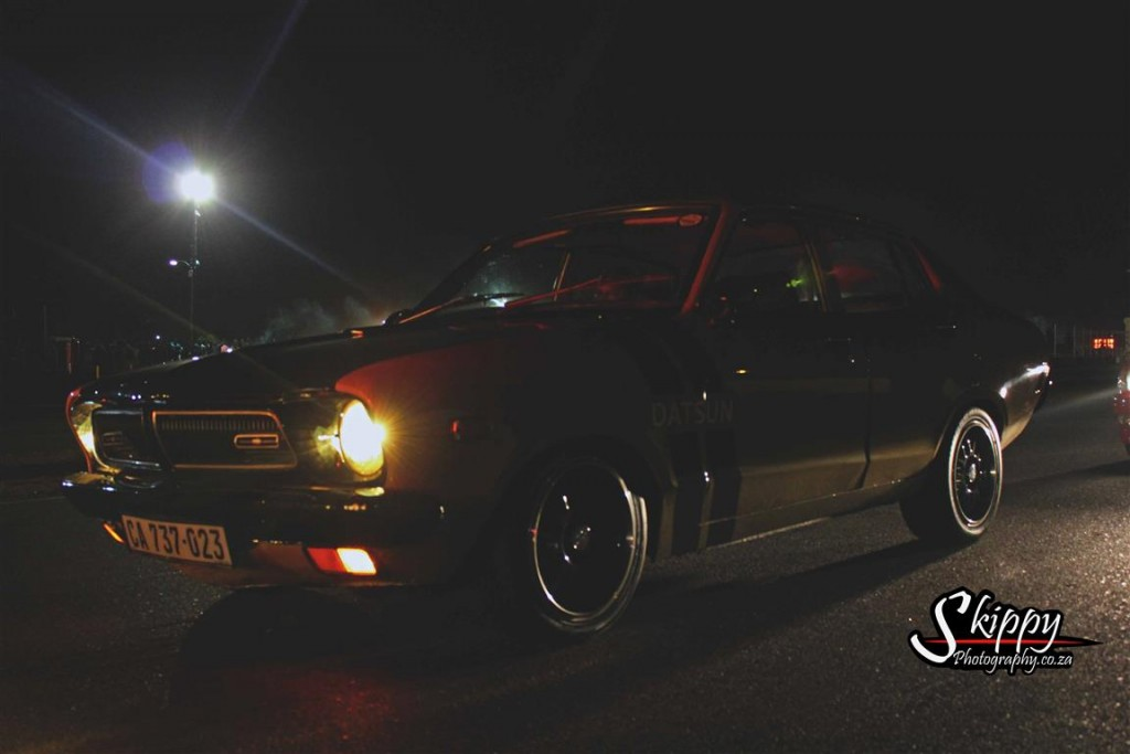Datsun with SR20VE inside. Showing the competition how its done.